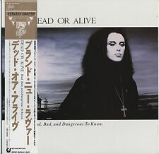 Dead Or Alive - Mad, Bad, And Dangerous To Know JAPAN LP w/OBI and PICTURE SHEET