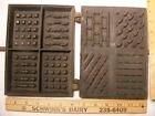 Circa 1800's Gate mark Hearth  Box style Waffle Iron about 6 x 8 x 29 cast iron