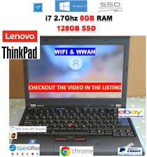Lenovo ThinkPad x220 i7 2.7Ghz ✔ 8 Go RAM ✔ 128 Go SSD ✔ WWAN ✔ WIN 10 PRO ✔