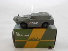 Miniature Métal Char Tank SOLIDO Véhicule Militaire Blindé Amphibie BTR 40 1/50e