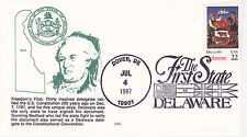 FDC FIRST DAY COVER 1987 DELAWARE STATEHOOD ISSUE THE 1ST STATE LRC CACHET