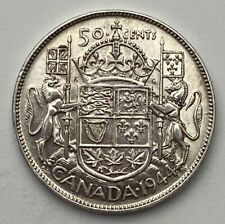 CANADA 1944 WIDE DATE  50 CENTS KING GEORGE VI .800 SILVER C8