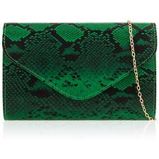 Animal Print Women Clutch Patent Leopard SnakeSkin Croc Faux Leather Evening Bag