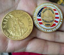 SAINT MICHAEL PATRON SAINT Coins POLICE OFFICER Collectibles Souvenir BADGE Coin