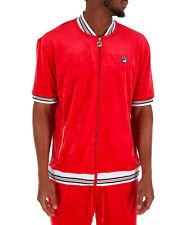 Fila Mens Carezzi Velour Jacket Red lm181l21-622