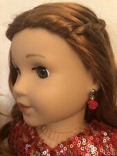 Red Rose Earring Dangles for 18 inch American Girl Dolls