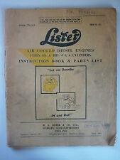 LISTER HA HB DIESEL ENGINE INSTRUCTION BOOK & PARTS LIST (4 6 CYLINDER) 776 163