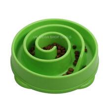 Dog Cat Pet Bowl Interactive Fun Slow Food Feeder Healthy Gulp Feed Dish