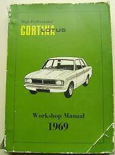 FORD Lotus Cortina MARK 2 MANUALE OFFICINA ORIGINALE 1969