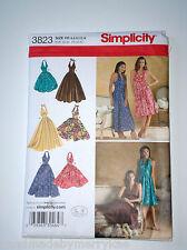 Simplicity Pattern 3823 H5 Misses' Dress Skirt Summer Sewing Sz 6-14