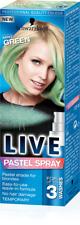 Schwarzkopf LIVE SPRAY PASTELLO MENTA VERDE 125 ML/temporaneo/Capelli/colore/tintura/NUOVO