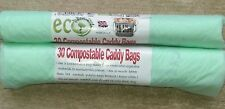 10 Litre Compostable Biodegradable Caddy Bin Bags Bags/Liners. EN13433 X 30 Bags