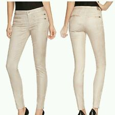NWT GUESS 8-Zip Colored Skinny Jeans in District Taupe SIZE 24