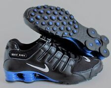 Nike Men's Shox NZ ID Black-Blue-White  SZ 8   [616117-981]