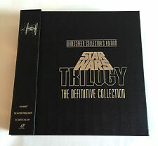 STAR WARS TRILOGY THE DEFINITIVE COLLECTION BOX JAPAN 9 LD Laserdisc w/Book THX
