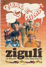Pubblicità Advertising Werbung 1988 Zigulì Qual'è la rima? (2)
