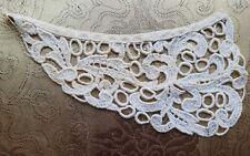 A36 Vintage Chemical Lace Applique Trim Embellishment Linen Repair Patch Sewing
