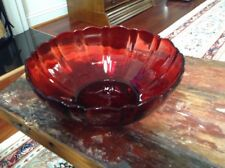 Arcoroc France Ruby Red Bowl Diameter 8""