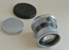 Leitz Leica Summicron 5cm  f:2  collapsible M bayonet mount lens with caps , exc