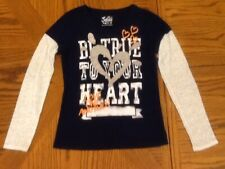 Justice Girls Long Sleeve BE TRUE TO YOUR HEART LOVE ONE ANOTHER Shirt Size 10