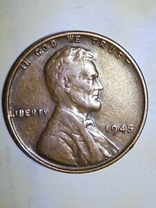 1945 No Mint Lincoln Rare Weat Error cent.