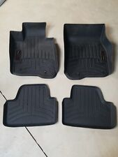 WeatherTech FloorLiner for BMW 4-Series Convert w/o xDrive - 1st/2nd Row -Black