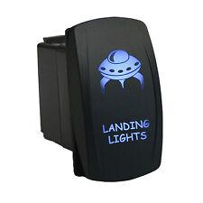 Rocker Switch 6B03B Laser LANDING LIGHTS dual led BLUE 12V ATV UTV offroad SPST