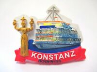 Konstanz Bodensee Magnet Poly 7,5 cm Germany Souvenir Schiff