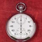 Vintage HEUER #520 - 3 Dial Stopwatch Made in Switzerland 1/5 Second WORKING