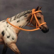 Handmade 1:12 Breyer Classic Scale Orange Bridle Model Horse Tack