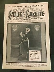 CHARLIE CHAPLIN - 1929 NATIONAL POLICE GAZETTE Magazine - Silent Film - Movie