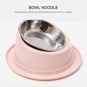 Pet Cat Dog Tilted 15° Eating Bowl Non-slip Raised Bowl Pet Neck Protective Bowl