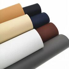 7pcs Classic Litchi Faux PU Leather Sheets Fabric Pack Bundle Set Bows Craft