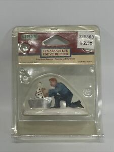 It's A Dog's Life Lemax Village Collection Figures 2004 Collectible #42917