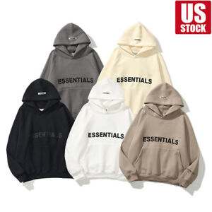 New FOG Essentials Fear of God hooded Hoodie fashion Loose Pullover Unisex USA!