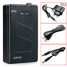 DC 12V 2In1 Portable Rechargeable 8000Mah Li-ion Battery Pack EU Adapter