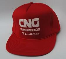 CNG TRANSMISSION TL-469 Baseball Cap Hat One Size Snapback Flat Bill Red