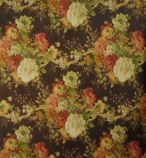 """Waverly Brown Ballad Bouquet Authentic Screen Print 57"""" wide By 1/2 yard"""