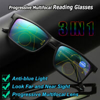 Anti-blue Light Reading Glasses Progressive Multifocal Lens Presbyopia Glasses-