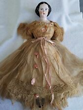 Vintage China Head Arms & Legs Doll 17""
