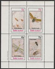 GB Locals - STAFFA (2305) - 1982 insectes PERF feuillet non montés excellent