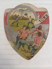 """TOWN - Baines """"shield"""" RUGBY Trading Card, UK circa 1890s   VERY GOOD condition"""