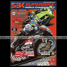 PROGRAMME MOTO SBK SUPERBIKE 2003 France Magny-Cours World Championship #P009
