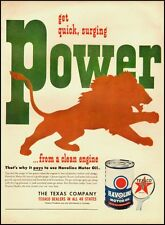 Vintage ad for Havoline Motor Oil/Lion in Ad (022113)