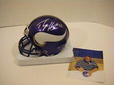 Percy Harvin Autographed Viking Mini Helmet