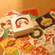 38x/box Weihnachten papier aufkleber dekoration tagebuch scrapbooking aufkleber~