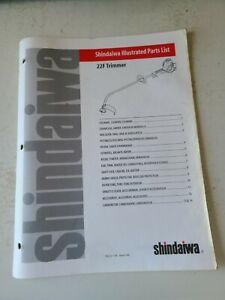 Vintage Shindaiwa Illustrated Part List 22F   String Trimmer  Original