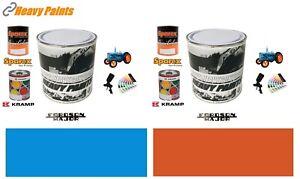 Fordson Major Tractor Orange & Empire Blue Enamel Endurance Paint Litre Tins