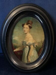 Queen Victoria Small Portrait Miniature - Highly Decorative - Windsor Castle