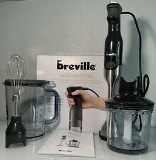Breville Control Grip Immersion Blender Stainless Steel Gray Whisk BSB510XL